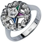 Eastern Star Solitaire Ring