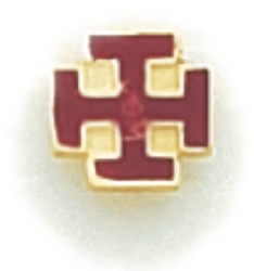 Maltese Cross Lapel Pin Model # 362349