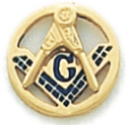 Square & Compass Lapel Pin Model # 362354