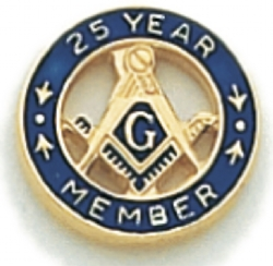 25 Year Membership Lapel Pin Model # 362357