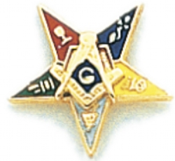Eastern Star Lapel Pin Model # 362416