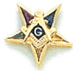 Eastern Star Lapel Pin Model # 362417