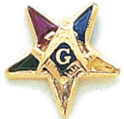 Eastern Star Lapel Pin Model # 362418