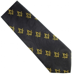 Small Square and Compasses Diagonal Pattern Tie Model # 362576