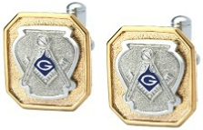 Premium Blue Lodge Cufflinks Model # 362579