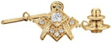 Jeweled Square & Compass Tie Pin Model # 362585