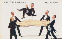 Are you a Mason? The Raising Postcard Model # 362597