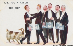 Are you a Mason? The Grip Postcard Model # 362598