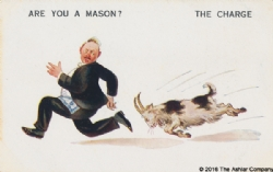Are you a Mason? The Charge Postcard Model # 362599