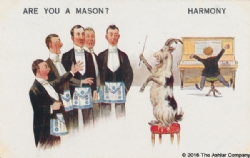 Are you a Mason? Harmony Postcard Model # 362600