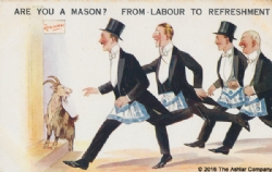 Are you a Mason? From Labour to Refreshment Postcard Model # 362601