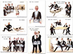 Are you a Mason? 8 Postcard Set Model # 363732