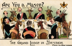 Are you a Mason? - The Grand Lodge in Session Postcard Model # 363741