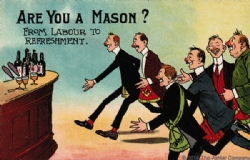 Are you a Mason? - From labor to refreshment Postcard Model # 363742