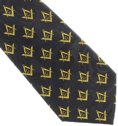 Square and Compass Diagonal Pattern Tie Model # 363750