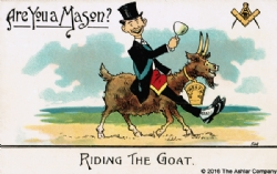 Are you a Mason? Riding the Goat Postcard Model # 363771