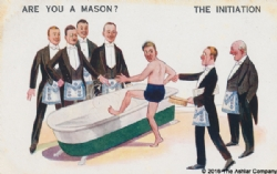 Are you a Mason? The Initiation Postcard Model # 363776