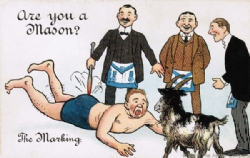 Are you a Mason? The Marking Postcard Model # 363795