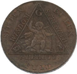 Sketchley Masonic Half-Penny Model # 363811