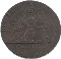 Sketchley Masonic Half-Penny Model # 363814