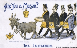 Are you a Mason? The Initiation Postcard Model # 363840