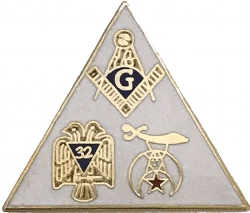 Blue Lodge, Shriners, Scottish Rite Triangle Pin Model # 363944