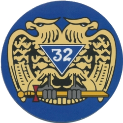 Scottish Rite 32nd Degree Magnetic Car Emblem Model # 363973