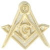 Square & Compass Lapel Pin