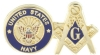 Navy Mason Lapel Pin Model # 357743