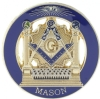 Square & Compass Pillars Mason Pin