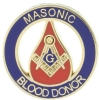 Masonic Blood Donor Pin