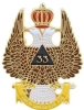 Wings Up Scottish Rite 33rd Degree Lapel Pin Model # 357803