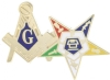 Blue Lodge OES Combo Pin