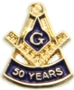 50 Year Membership Pin Model # 357812