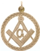 9ct Antique Masonic Pendant Model # 357918
