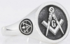Design Your Own Custom Masonic Round Ring Model # 357933
