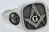 Design Your Own Custom Square Masonic Ring Model # 357934