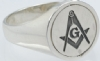 Design Your Own Masonic Swivel Ring Model # 357938