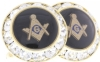 Austrian Crystal Masonic Cufflinks Model # 358491