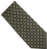 Black / Gold Pave Silk Masonic Tie Model # 358570