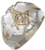Two Tone Masonic Ring Model # 358687