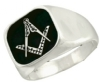 Classic Square and Compass Ring Model # 358759