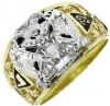 Scottish Rite Solitaire Ring Model # 358789