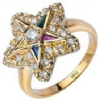 Jeweled Eastern Star Ring Model # 358797