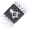 Jeweled Square & Compass Ring Model # 358834