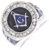 Jeweled Square & Compass Ring Model # 358843