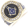 Jeweled Square & Compass Ring Model # 358844