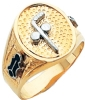 Two Ball Cane Custom Masonic Ring Model # 359253