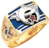 Wide Face Custom Shriners Ring Model # 359535