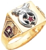Square Top Custom Shriners Ring Model # 359548